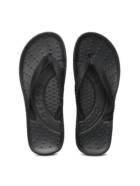 Crocs Unisex Black Flip-Flops