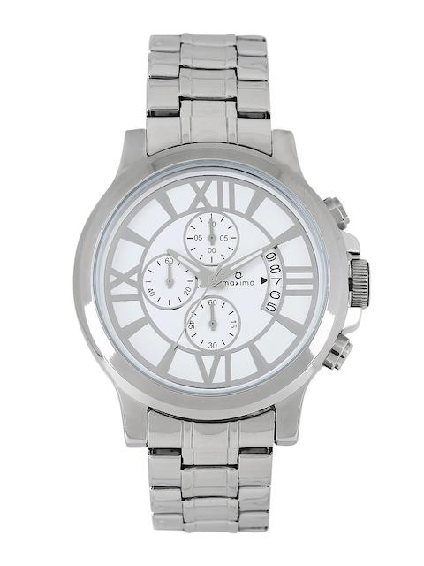 Maxima Men White Dial Watch 32350CMGI