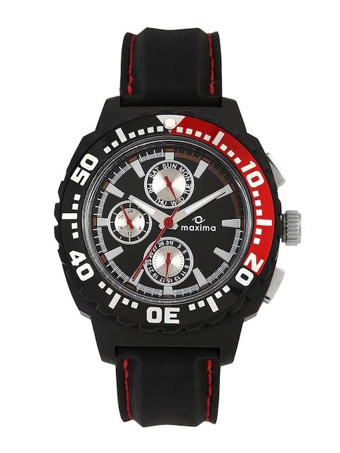 Maxima Men Black Dial Watch 30774PPGN