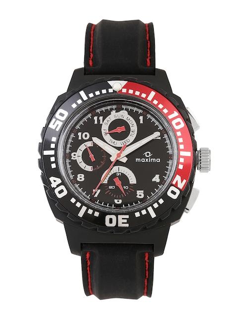 Maxima Attivo Men Black Dial Watch 30775PPGN