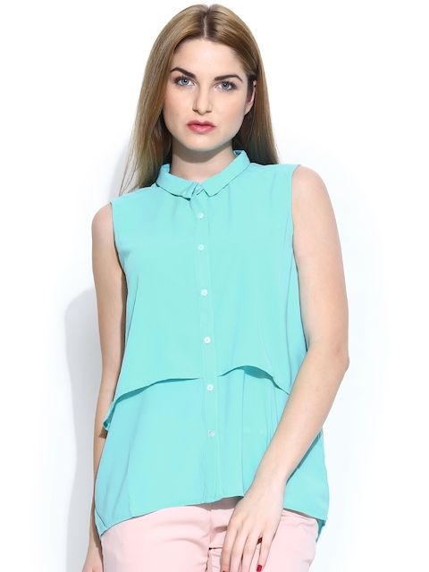 United Colors of Benetton Women Blue Casual Shirt