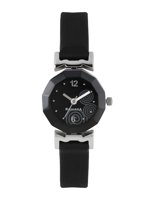 Sonata Women Black Dial Watch NF8943SL03J
