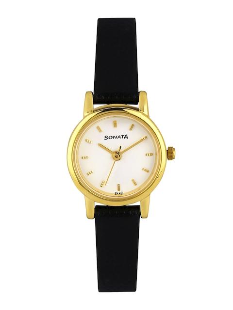 Sonata Women White Dial Watch NF8976YL02J