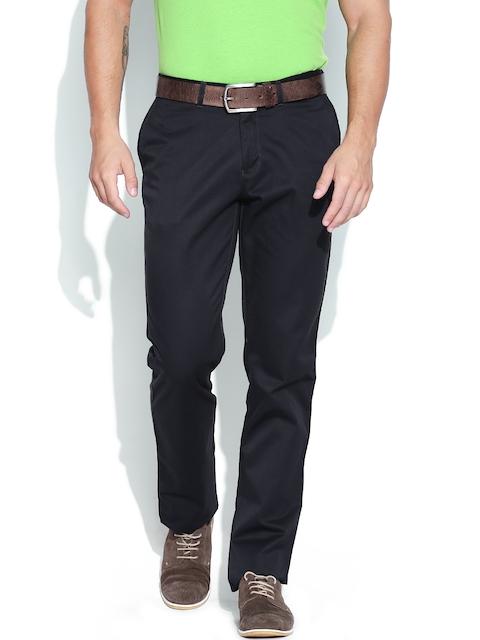Blackberrys Men Charcoal Grey Sharp Fit Casual Trousers
