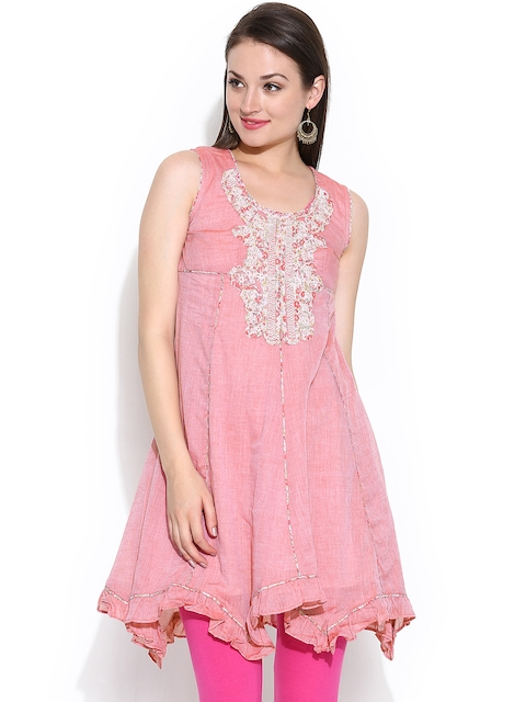 BIBA OUTLET Women Dusty Pink Anarkali Kurta  available at myntra for Rs.1199