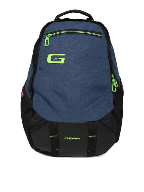 Gear Unisex Blue & Black Backpack