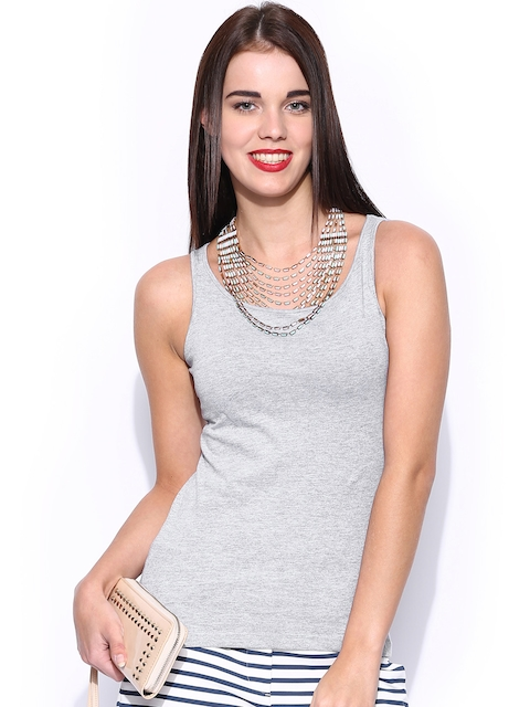 Miss Chase Grey Melange Tank Top