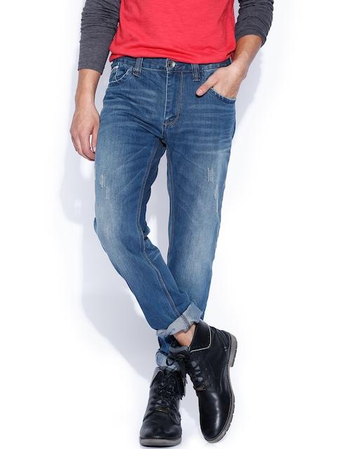 Breakbounce Men Blue Bear Hug Slim Fit Jeans