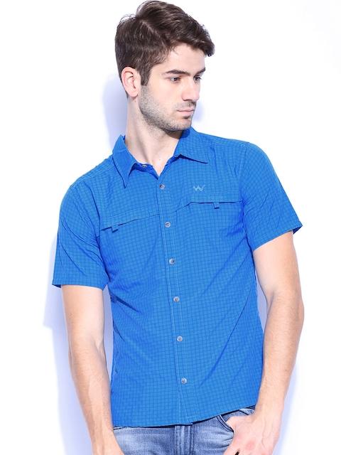Wildcraft Men Blue Checked Casual Shirt