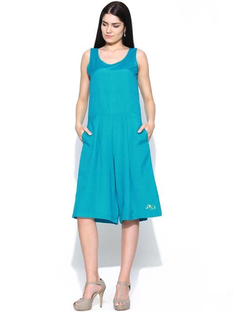 Global Desi Women Blue Playsuit