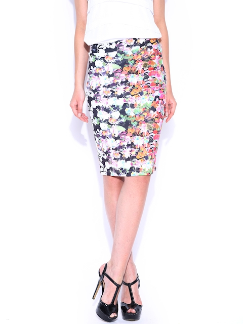 Arrow Woman Multicoloured Printed Pencil Skirt