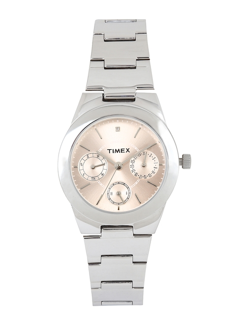 Timex J100 E Class Analog Pink Dial Women's Watch (J100)