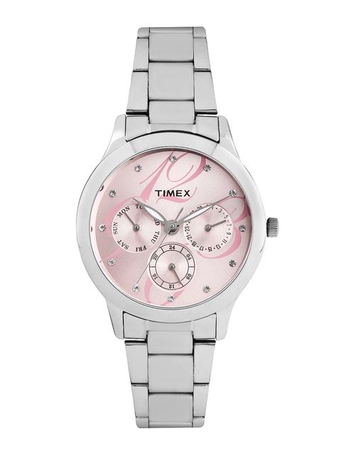 Timex Women Pink Dial Watch TI000Q80100