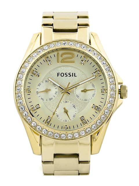 Fossil Women Cream-Coloured Dial Watch ES3203I