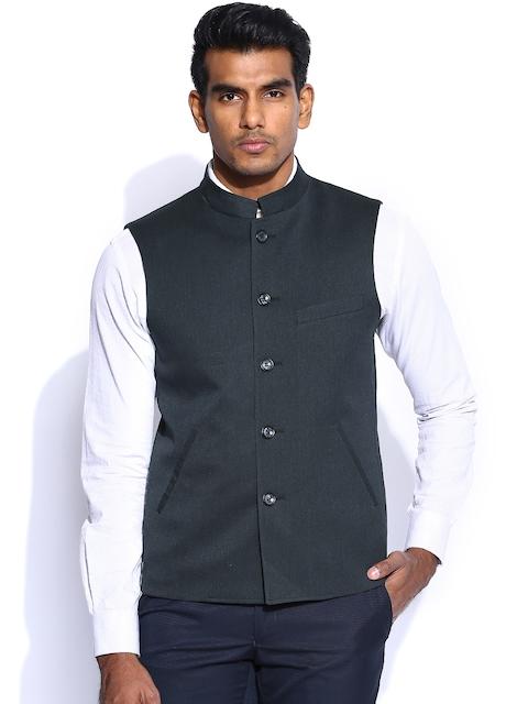 Peter England Navy Nehru Jacket