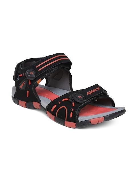 Sparx Men Black Sports Sandals