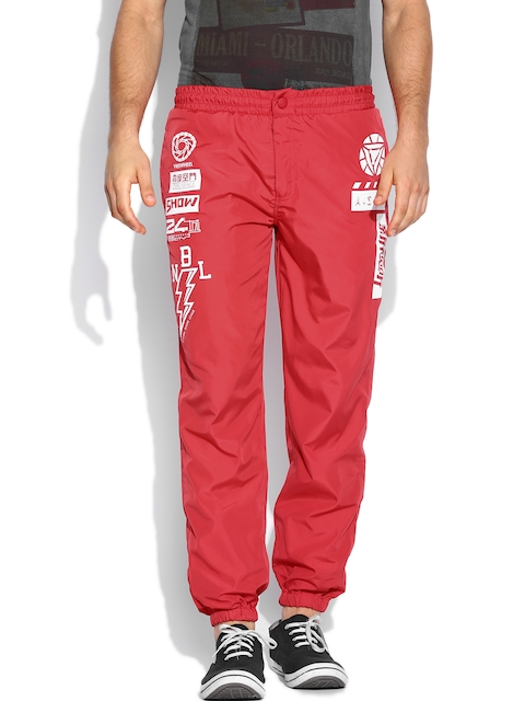 People Men Red Track Pants