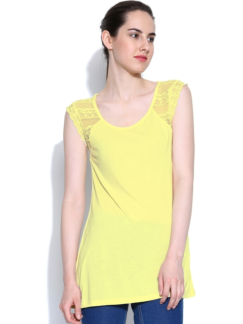 United Colors of Benetton Women Yellow Top