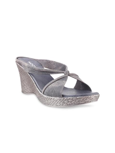 Mochi Women Grey Heels