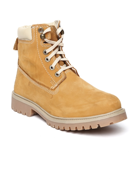 Woodland Men Mustard Yellow Suede Boots