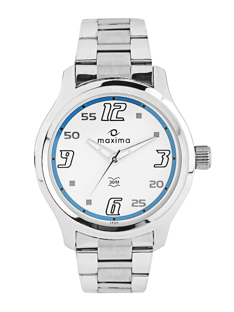 Maxima Attivo Men White Dial Watch 24056CMGI