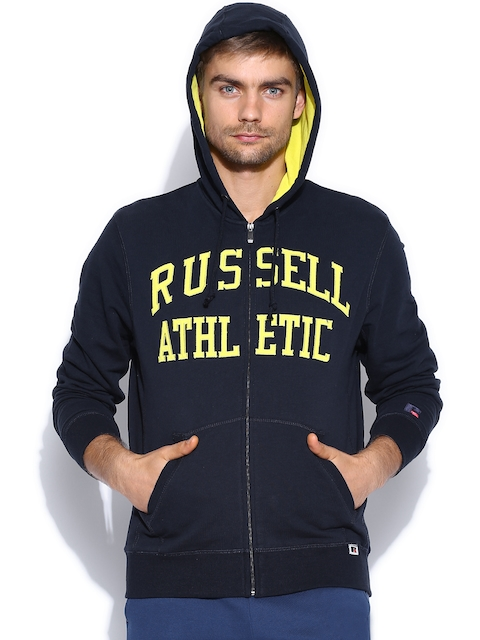 Russell Athletic Men Navy Hooded Sweatshirt