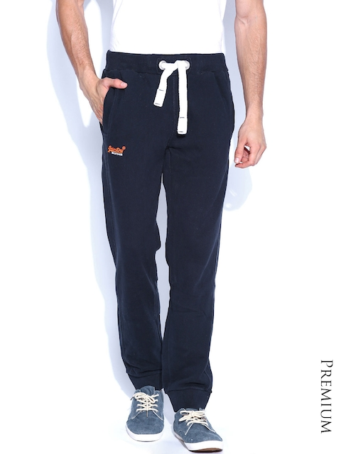 Superdry Men Navy Slim Fit Track Pants