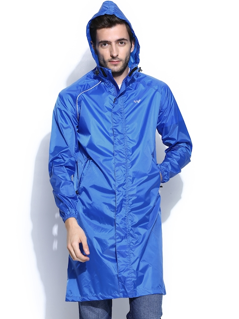 Wildcraft Men Blue Hooded Rain Jacket