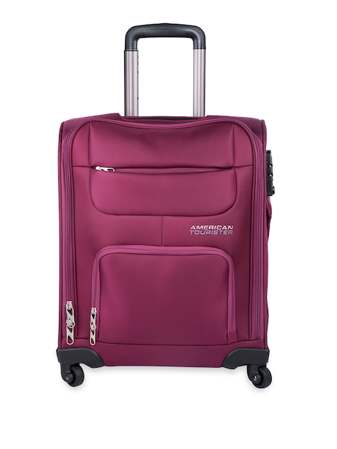 American Tourister Unisex Purple Small Trolley Bag