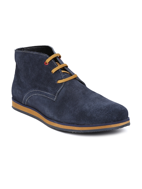 American Swan Men Navy Suede Casual Shoes  available at myntra for Rs.2999