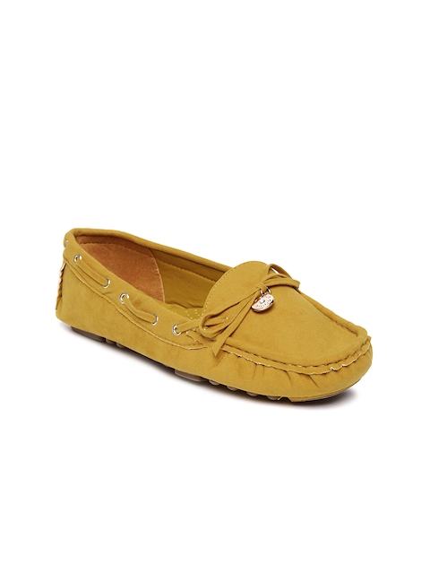 Marie Claire by Bata Women Mustard Yellow Boat Shoes