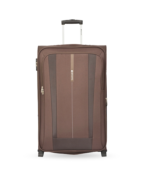 Safari Unisex Brown Medium Trolley Suitcase
