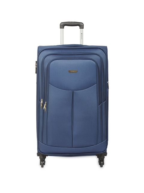 Safari Unisex Blue Large Trolley Suitcase