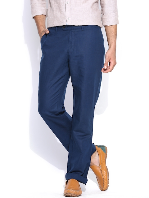 Blackberrys Blue Sharp Fit Casual Trousers