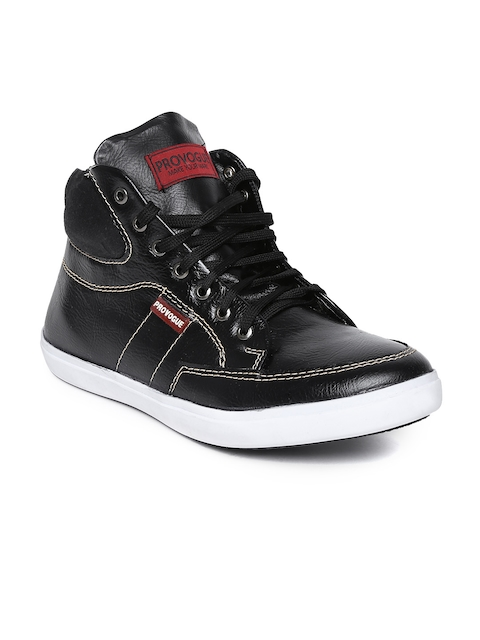 Provogue Men Black Leather Casual Shoes