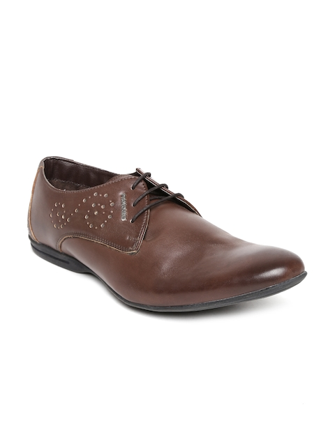 Provogue Men Brown Leather Formal Shoes