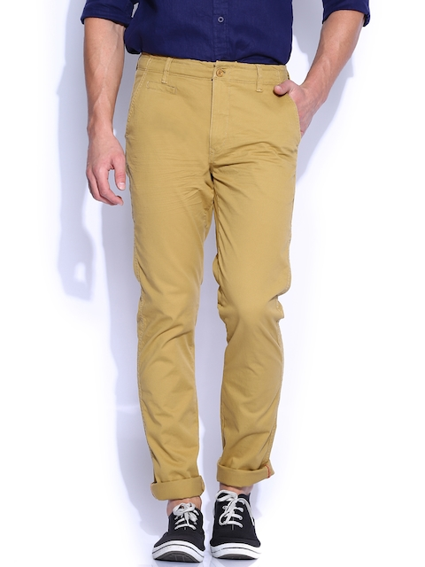 IZOD Khaki Slim Fit Trousers
