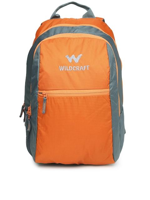 Wildcraft Unisex Orange & Grey Backpack