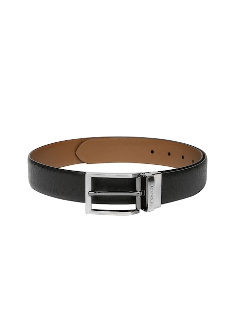 Ruosh Men Black & Brown Reversible Leather Belt