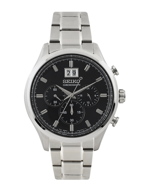 SEIKO Men Black Chronograph Dial Watch SPC083P1