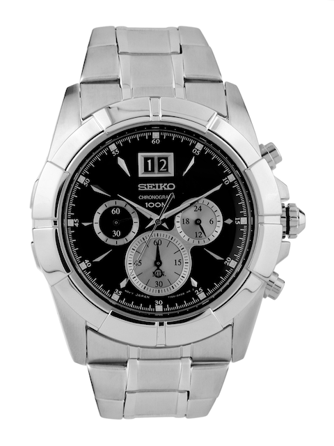 SEIKO LORD Men Black Chronograph Dial Watch SPC109P1