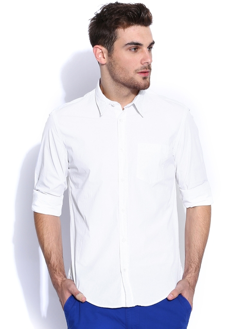 GAS White Casual Shirt  available at myntra for Rs.2992