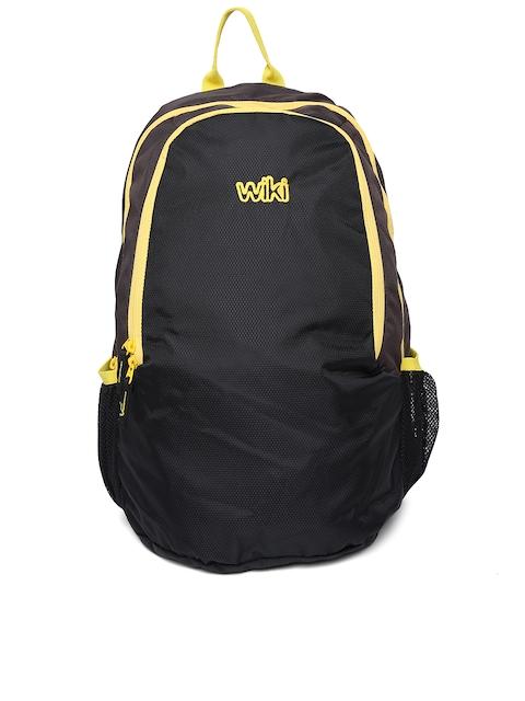 Wiki by Wildcraft Unisex Brown & Black Backpack