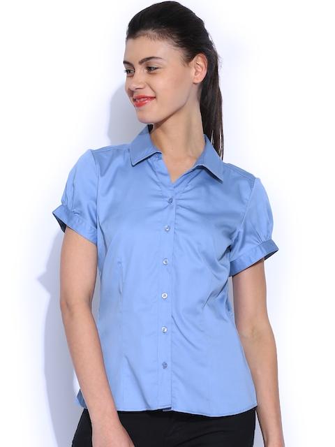 Allen Solly Woman Blue Shirt