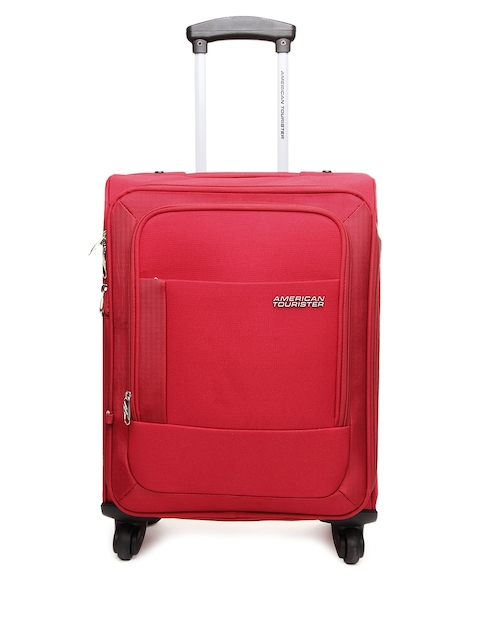 AMERICAN TOURISTER Unisex Red Malta Medium Trolley Suitcase