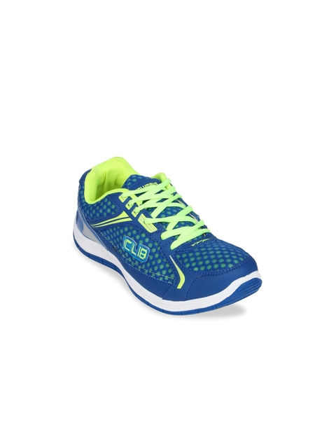 Columbus Men Blue & Green Sports Shoes