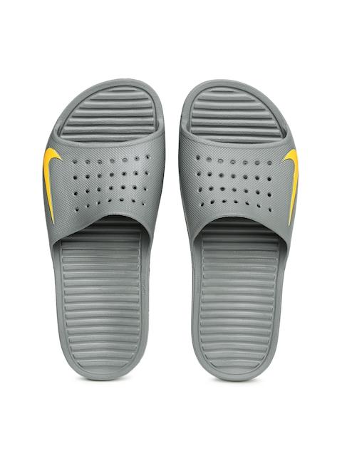 Nike Men Grey Solarsoft Slide Flip-Flops