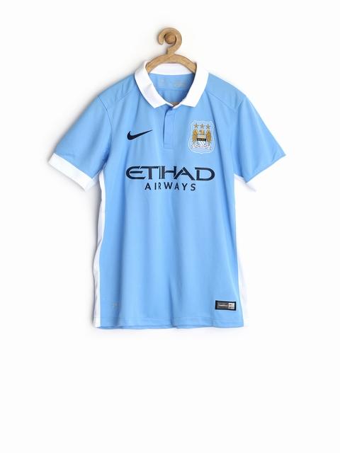 Nike Boys Light Blue Home Stadium Printed Manchester City FC Jersey