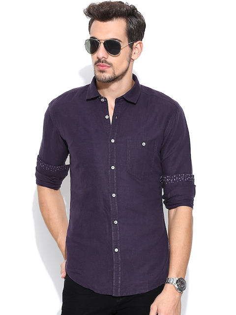 Killer Purple Lean Fit Casual Shirt