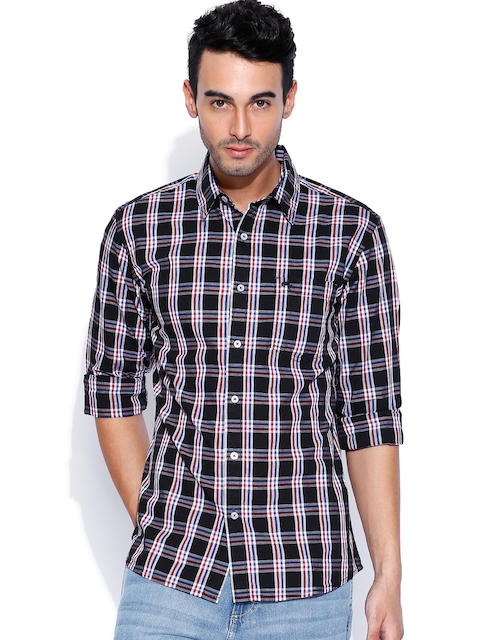 Wrangler Black & White Checked Casual Shirt